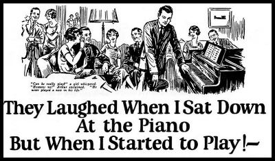 This is an old ad by a famous copywriter. It sold millions and millions of dollars in piano courses.